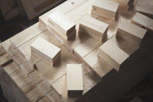 Conifer wood at Jonas Hofrichter's studio. Photo Erika Svensson