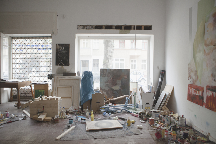 View of Jonas Hofrichter's studio. Photo Erika Svensson
