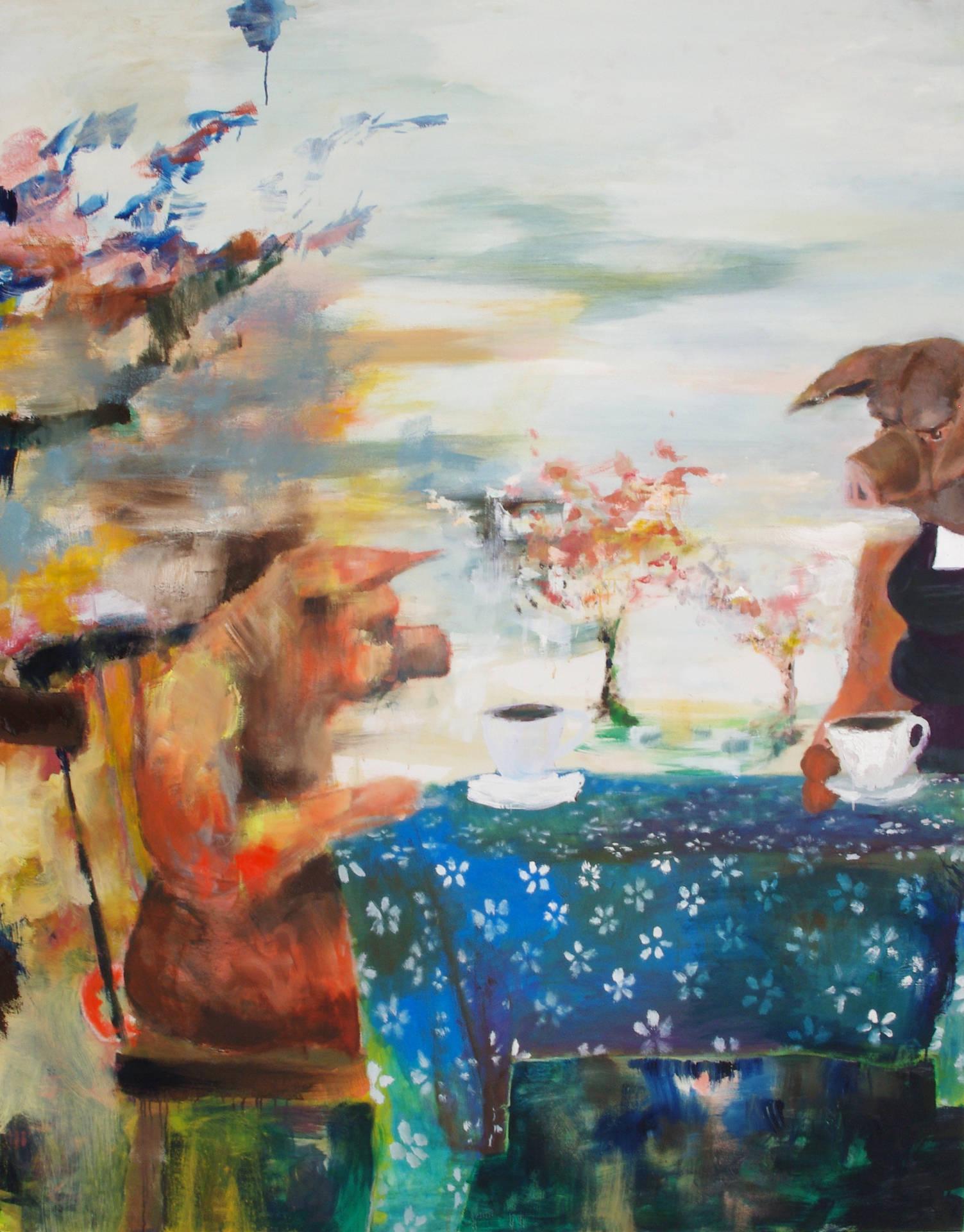 Bei Tante (at auntie's) by Jonas Hofrichter, 2012. 185 x 145 cm