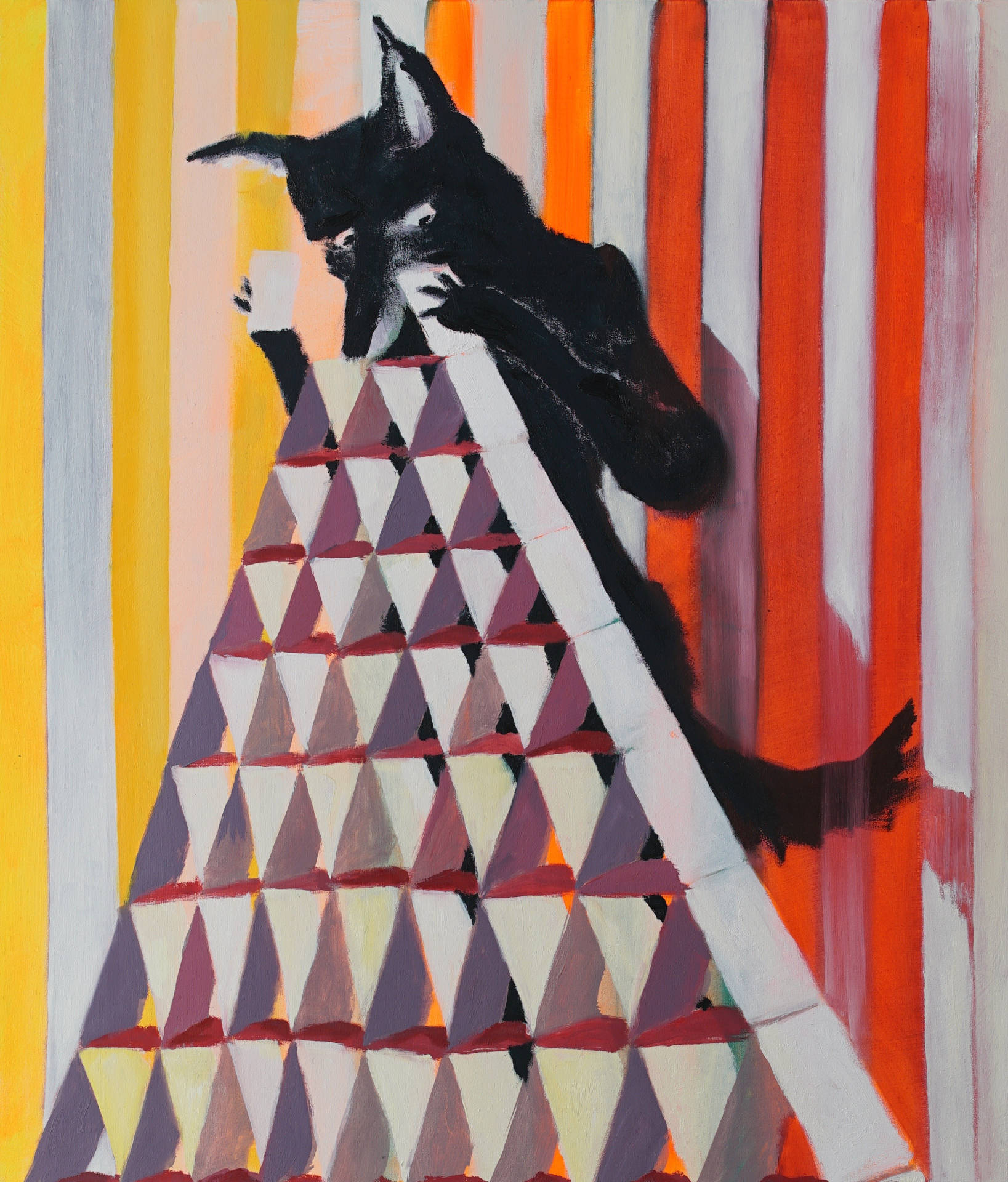 Wolf mit Kartenhaus (wolf with house of cards) by Jonas Hofrichter, 2015