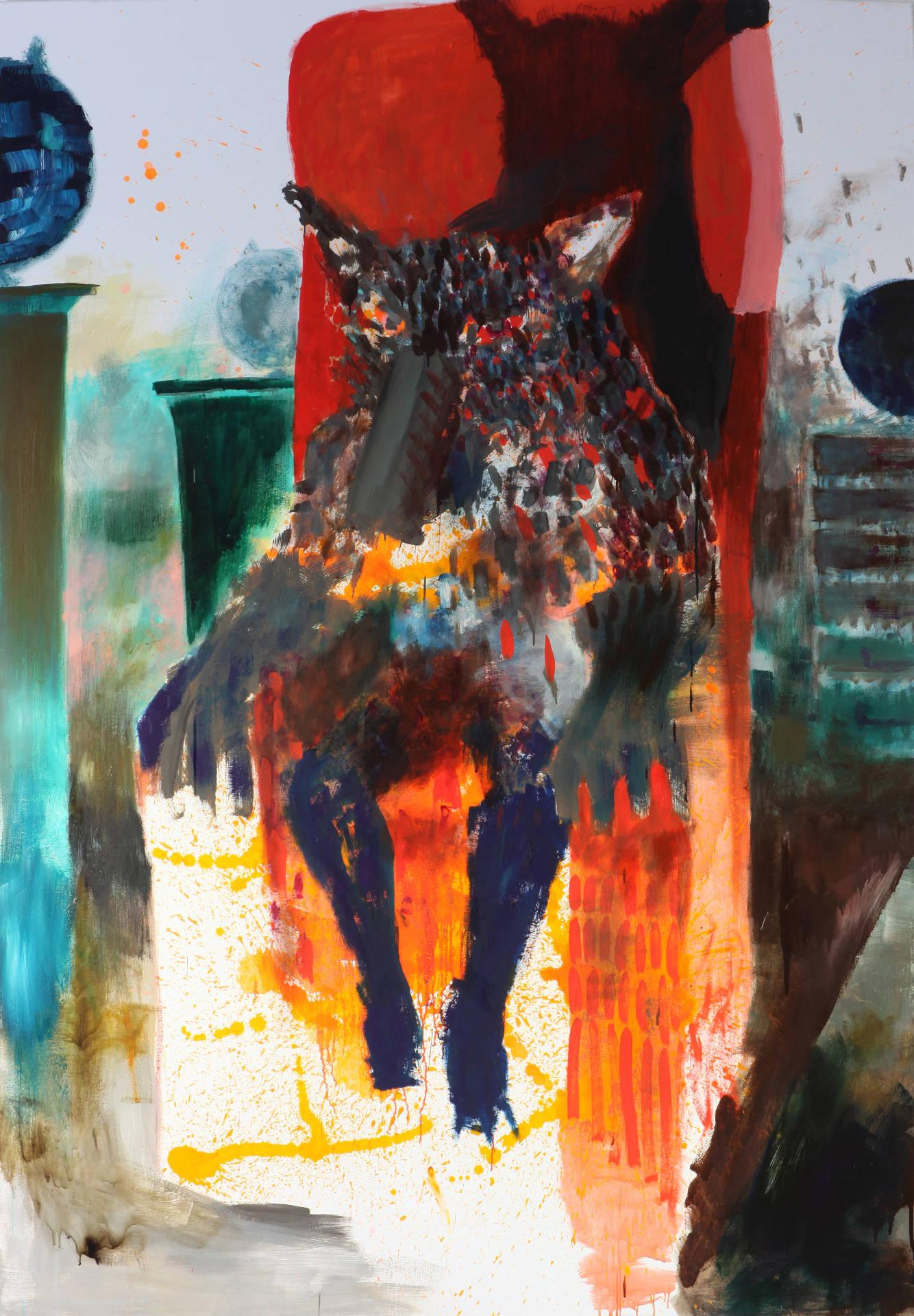 Wolf am Kamin by Jonas Hofrichter