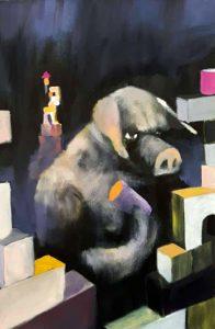 Jonas Hofrichter, Schwein mit Bauklötzen